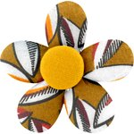 Mini flower hair slide cocoa pods - PPMC