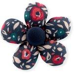 Mini flower hair slide camelias rubis - PPMC