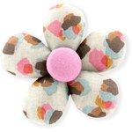 Petite barrette mini-fleur confetti aqua - PPMC