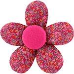 Petite barrette mini-fleur crocus groseille - PPMC