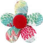 Petite barrette mini-fleur dahlia poudré - PPMC