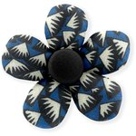 Mini flower hair slide parts blue night - PPMC