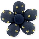 Mini flower hair slide navy gold star - PPMC