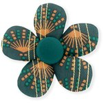 Mini flower hair slide eventail or vert - PPMC