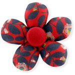 Mini flower hair slide vermilion foliage - PPMC