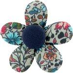 Petite barrette mini-fleur fleur mentholé - PPMC