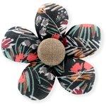 Petite barrette mini-fleur  graminée - PPMC
