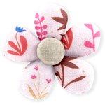 Mini flower hair slide herbier rose - PPMC