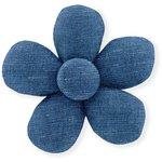 Petite barrette mini-fleur jean fin - PPMC