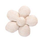 Mini flower hair slide  glitter linen - PPMC