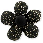 Mini flower hair slide noir pailleté - PPMC