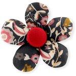 Pasador mini flor ave ocre - PPMC