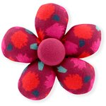 Mini flower hair slide pompons cerise - PPMC