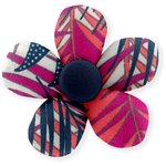 Mini flower hair slide tropical fire - PPMC