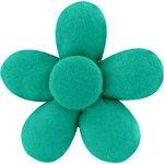 Petite barrette mini-fleur vert laurier - PPMC