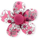 Mini flower hair slide pink violette - PPMC