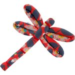 Dragonfly hair slide vermilion foliage - PPMC