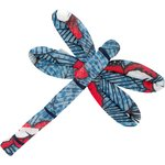 Dragonfly hair slide flowered night - PPMC