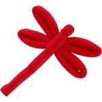 Dragonfly hair slide tangerine red - PPMC