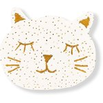 Meow hair slide white sequined - PPMC