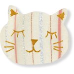Meow hair slide silver pink striped - PPMC