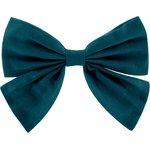 Bow tie hair slide bleu vert - PPMC