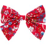 Bow tie hair slide cherry cornflower - PPMC