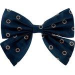 Bow tie hair slide bulle bronze marine - PPMC