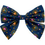 Bow tie hair slide glittering heart - PPMC