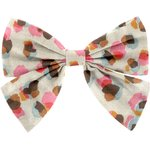 Bow tie hair slide watercolor confetti - PPMC