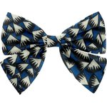 Bow tie hair slide parts blue night - PPMC
