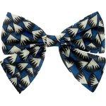 Barrette noeud papillon  eclats bleu nuit - PPMC