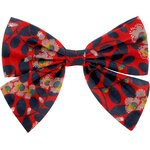 Bow tie hair slide vermilion foliage - PPMC