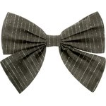 Bow tie hair slide khaki lurex gauze - PPMC