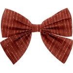 Bow tie hair slide lurex terracotta gauze - PPMC