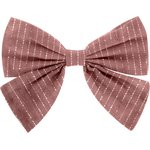 Barrette noeud papillon gaze lurex vieux rose  - PPMC