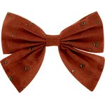 Bow tie hair slide gauze terra cotta - PPMC