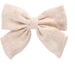 Bow tie hair slide  glitter linen - PPMC