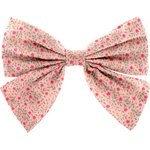 Barrette noeud papillon mini fleur rose - PPMC