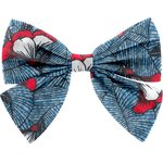 Bow tie hair slide flowered night - PPMC