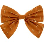 Bow tie hair slide caramel golden straw - PPMC