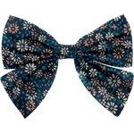 Bow tie hair slide paquerette marine - PPMC