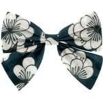 Bow tie hair slide paradis bleu - PPMC