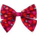 Bow tie hair slide pompons cerise - PPMC