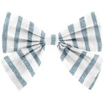 Barrette noeud papillon rayé bleu blanc - PPMC