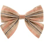 Bow tie hair slide bronze copper stripe  - PPMC