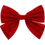Bow tie hair slide red - PPMC