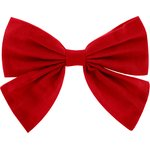 Bow tie hair slide tangerine red - PPMC