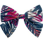 Barrette noeud papillon tropical fire - PPMC