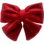 Barrette noeud papillon  velours rouge - PPMC